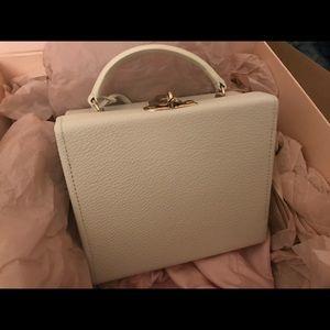 New Pop and suki white leather box bag